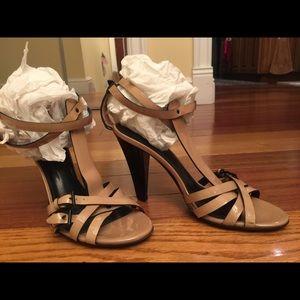 Burberry Beige T-Strap Heels